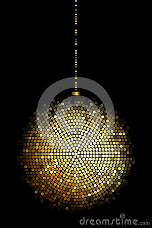 Free Gold Disco Ball Lights Stock Images - 29227124