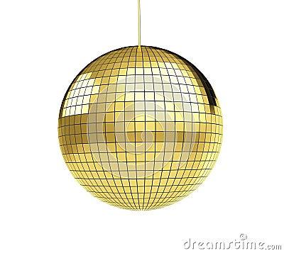 Gold disco discoball