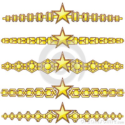Gold dividers with star