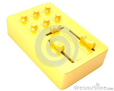 Gold DJ mixer
