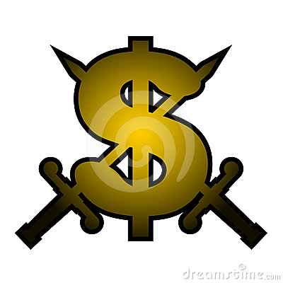 Gold Dollar Emblem Stock Photography - Image: 24550752