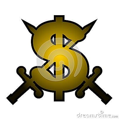 Gold dollar emblem