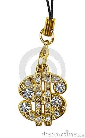 Gold dollar pendant