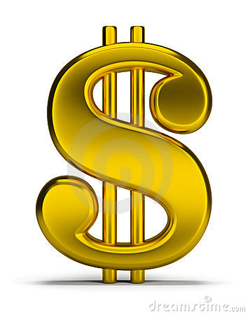 Free Gold Dollar Sign Stock Image - 23566871