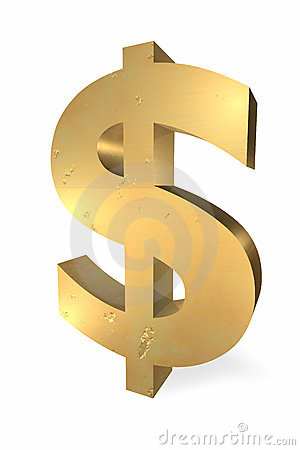 Free Gold Dollar Sign Stock Photography - 5013252