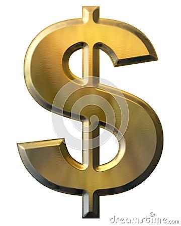 Free Gold Dollar Sign Stock Photo - 8359220