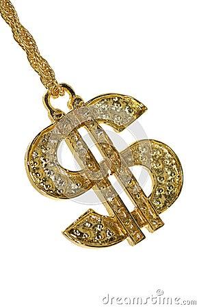 Free Gold Dollar Symbol Stock Image - 997281