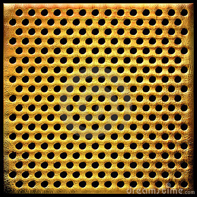 Gold dotted metal background