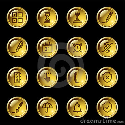 Gold drop software icons