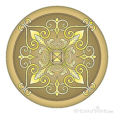 Gold eastern ornament  vector