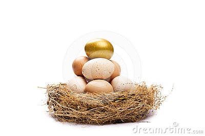 Gold egg on top