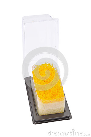 Gold egg yolks thread dessert