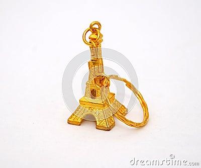Gold eiffel tower trinket