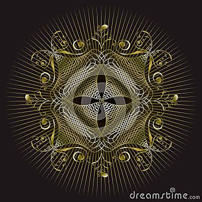 Gold emblem seal design
