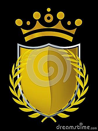 Gold emblem (vector)