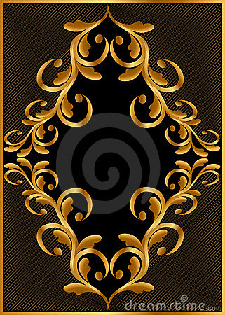 Gold(en) frame with pattern