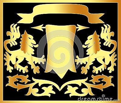 Gold(en) ornament with papyrus