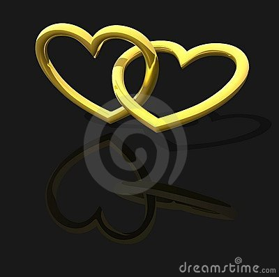 Gold Entwined Hearts