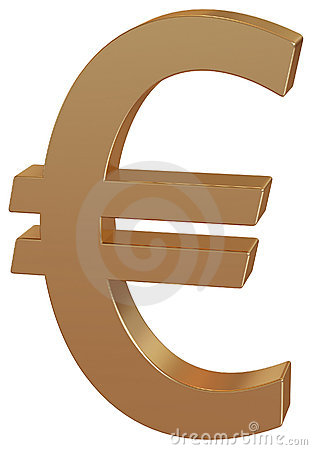 Gold Euro / money symbol