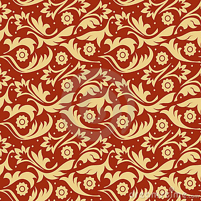 Gold f seamless pattern