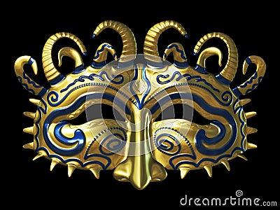 Gold Fantasy Masque