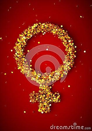Free Gold Female Gender Symbol Stock Photos - 41736593