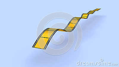 Gold  film strip
