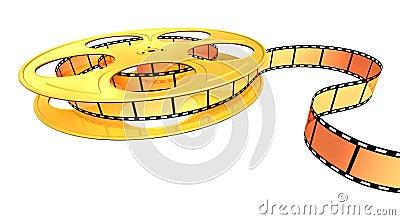 Gold film strip