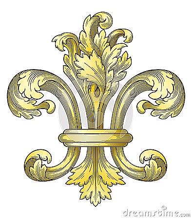 gold fleur de lys royalty free stock photo image 12959855. Black Bedroom Furniture Sets. Home Design Ideas