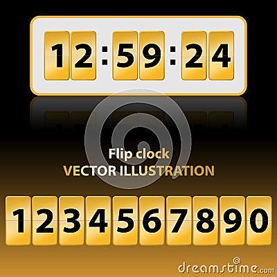 Gold flip clock