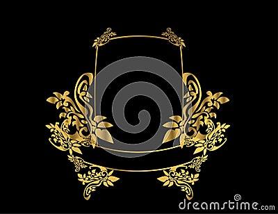 Gold floral frame 3