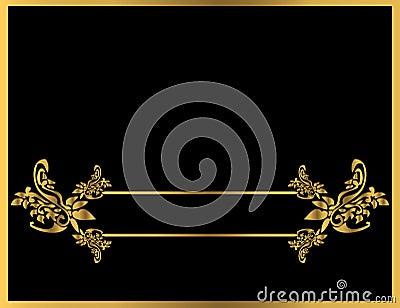 Gold floral frame 5