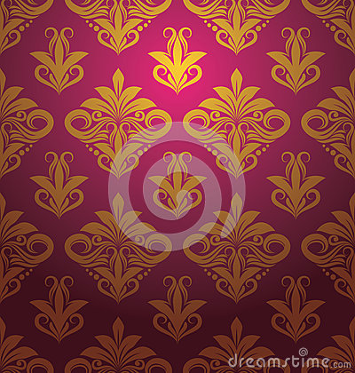Gold Floral Pattern Ornament