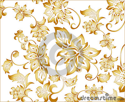 Gold Flower Background Pattern