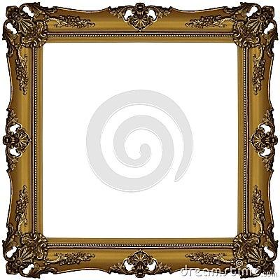 Free Gold Frame 3 Stock Image - 3198321