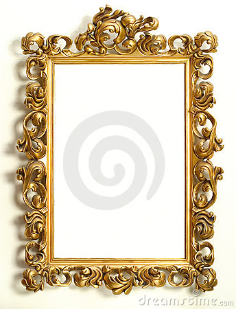 Free Gold Frame Royalty Free Stock Photography - 3415777