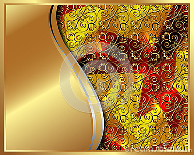 Gold frame with pattern 2