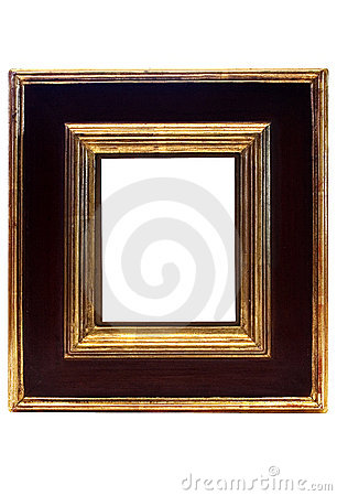 Free Gold Framed Picture Frame W/ Path Stock Photos - 567293