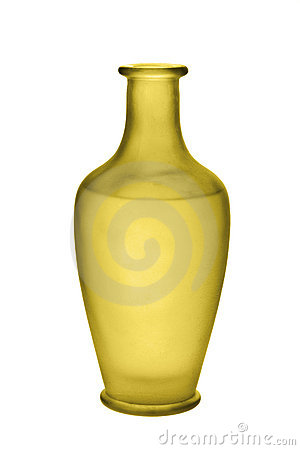 Gold Frosted Glass Vase Isolated