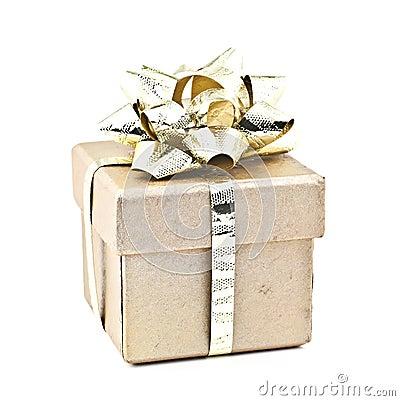 Gold gift box.