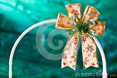 gold gift ribbon on arc