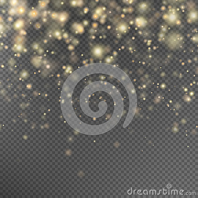 Free Gold Glitter Particles Effect. EPS 10 Stock Images - 82138784
