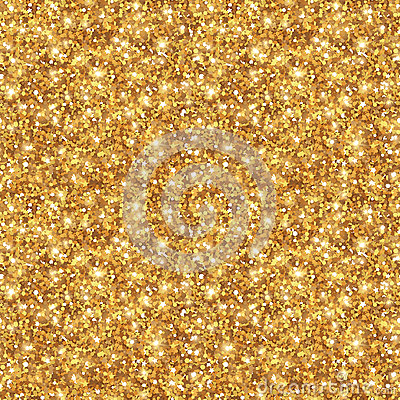 Gold Glitter Texture, Seamless Sequins Pattern Vector Illustration