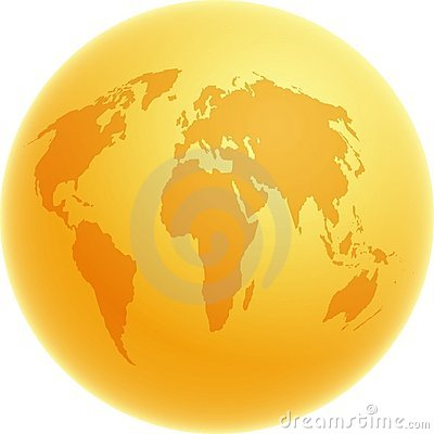 Free Gold Globe Royalty Free Stock Photo - 29355