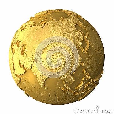 Gold Globe - Asia