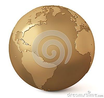 Gold globe / Earth model