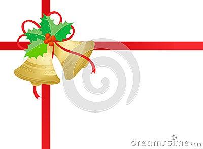 Gold / golden christmas bells
