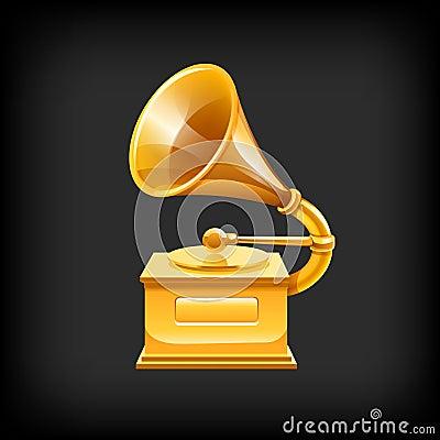 Gold gramophone.