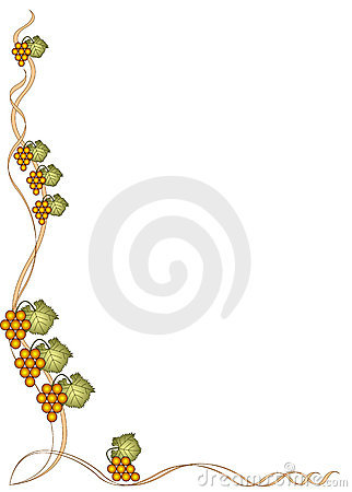 Gold grape border