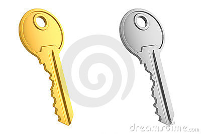 Gold and gray key